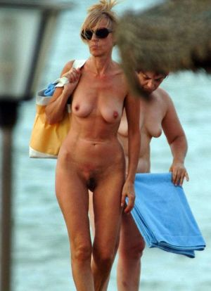 mature women on the beach