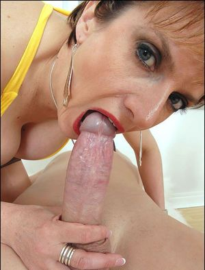 cheating milf blowjob