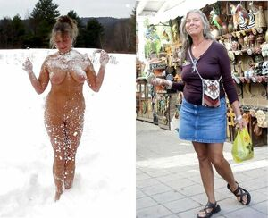 Middle aged ladies which always naked at the rest