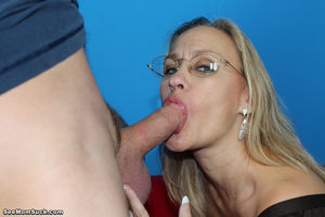 mom gives blowjob